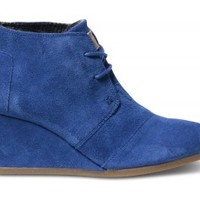 Ultramarine Suede Women's Desert Wedges