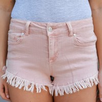 Crescent Bay Beach Shorts - Blush