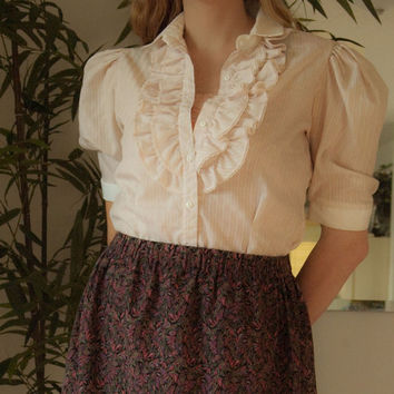 1980's Byer California Ruffled Blouse
