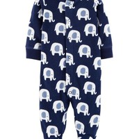 Elephant Snap-Up Fleece Sleep & Play