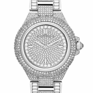 MICHAEL KORS Camile Crystal Pave Dial Silver Ladies Watch MK5869
