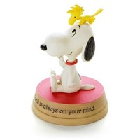 Woodstock Sitting on Snoopy Figurine