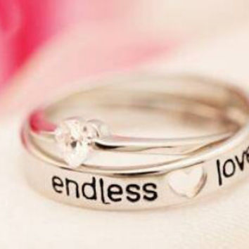 Couple's ring endless love