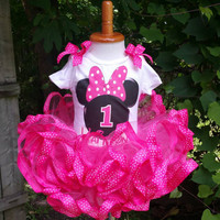 Minnie Mouse Birthday Outfit, pink Minnie Mouse tutu, Birthday Minnie tutu, Minnie mouse birthday, Minnie mouse tutu, Minnie mouse birtdhay