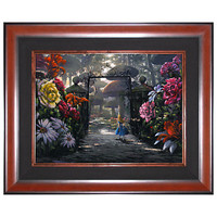 Limited Edition Disney Fine Art Legacy ''In the Garden'' Alice in Wonderland Giclée on Canvas | Disney Store