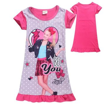 JOJO siwa Party Dress Moana Cartoon children Clothes Trolls 2018 Summer baby girls beach dress Ladybug Evening dresses for girls