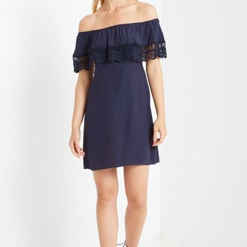 Adora Off the Shoulder Shift Dress
