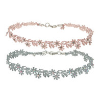 Crochet Flower Choker Set - Accessories