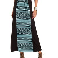 TRIBAL PANEL KNIT MAXI SKIRT