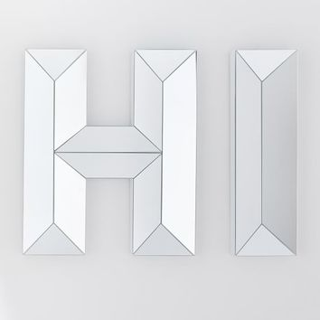 """Hi"" Beveled Mirror"