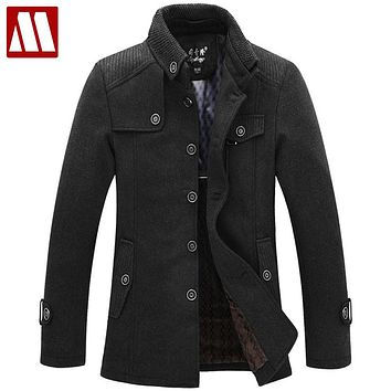 New 2017 winter dress manteau homme sobretudo men wool coat & jackets casacos de la jaqueta masculino overcoat male trench