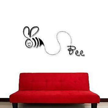 Wall Stickers Vinyl Decal Funny Bee Decor For Kids Children Nursery  Unique Gift (z1856)