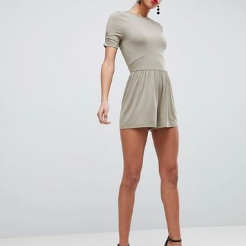 ASOS Jersey Tea Playsuit at asos.com