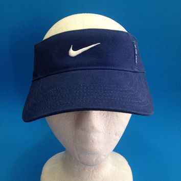 Vintage Nike Visor Adjustable Hat 1990s dark blue