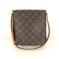 AUTH Louis Vuitton Monogram Canvas leather Musette Salsa Short Shoulder Bag