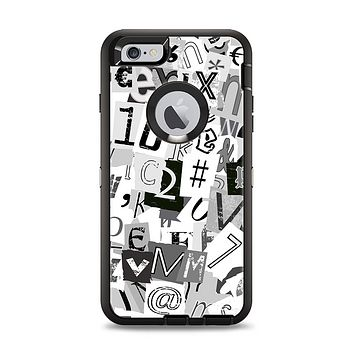 The Newspaper Letter Collage Apple iPhone 6 Plus Otterbox Defender Case Skin Set