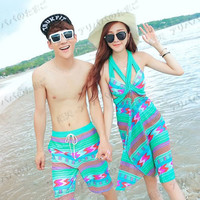 Pair look of all three colors of three points of couple swimsuit swimming set pair look swimsuit couple swimsuit couple pair look matching pair swimsuit みずぎ mizugi ミズギビキニパンツセット floral design summer