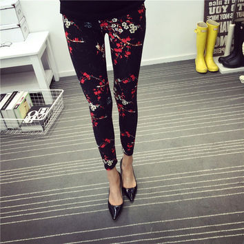 Spring Summer Womens Fashion Black Milk Thin Stretch leggings