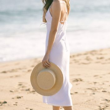 Ettie White Linen Cami Dress
