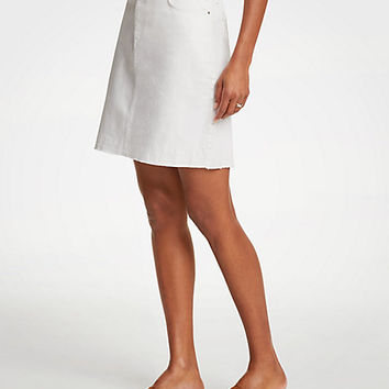 Released Hem Denim Skirt | Ann Taylor