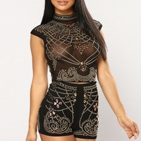 Somebody Better Embellished Set - Black
