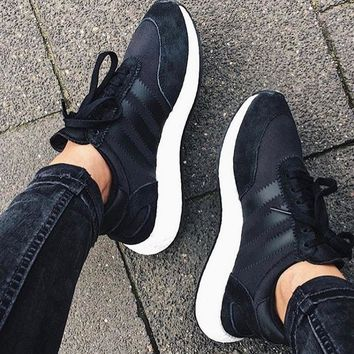 adidas iniki runner boost mint black fashion trending running sports shoes sneakers