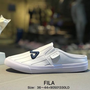 FILA All White Fahion Women Men Causel Sports Sneaker Shoes
