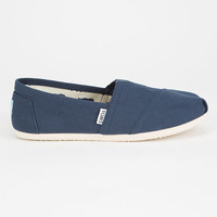 Toms Womens Canvas Classic Slip-Ons Navy  In Sizes