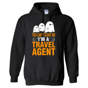 Halloween You Cant Scare Me I Am A Travel Agent - Heavy Blend™ Hooded Sweatshirt