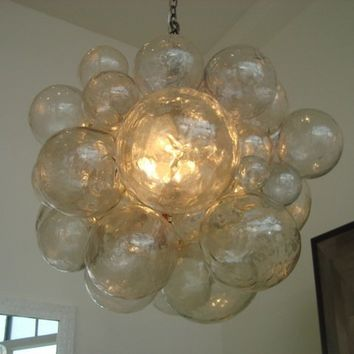 oly studio muriel chandelier clear cast resin mode