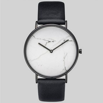 Saat Marble Dial Simple Women Watches Meboyixi Ladies Watch Minimalist Clock Vintage Wristwatch relogio feminino masculino