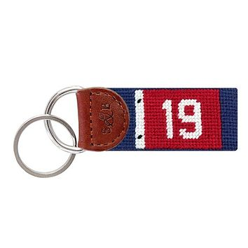 19th Hole Needlepoint Key Fob by Smathers & Branson