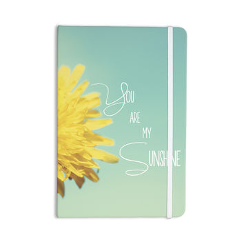 "Beth Engel ""You Are My Sunshine"" Teal Flower Everything Notebook"