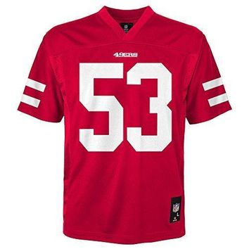 Nfl Youth Boys 8 20 Navorro Bowman San Francisco 49ers Boys Player Name Jersey Crimson Xl(18)
