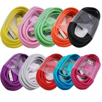ELONGPRO 10 Colors 2M/6 feet extra Long USB Data Charger Cable for Apple ipad 1 2 iPod touch iPhone 4 4S B8i
