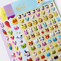 Cute 3D Bubble Stickers Kawaii Cartoon Sticker Toys for kids Creative Gift 3C