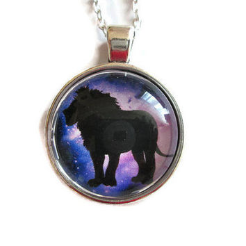 leo zodiac necklace,leo zodiac jewelry,lion galaxy pendant necklace,astronomy necklace,space pendant necklace,gift for him pendant,art gifts