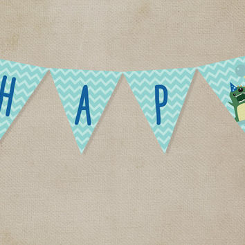 Printable Kids' Party Bunting Banners: Dinosaur [Instant Download]