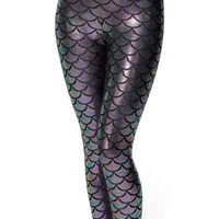 Hot Item Women's Leggings 6 Colours Black Green Mermaid Scales Printed Pants Leggings Alternative Measures
