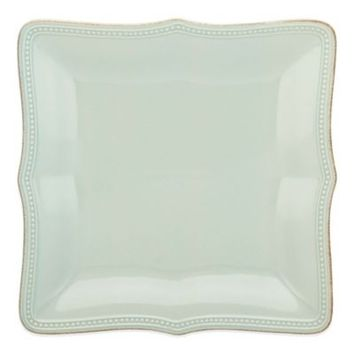 Lenox® French Perle Bead Square Dinner Plate in Ice Blue