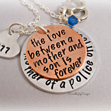 Mother of A Police Officer Firefighter Cop by DanielleJoyDesigns