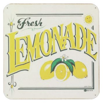 Vintage fresh lemonade sign coaster