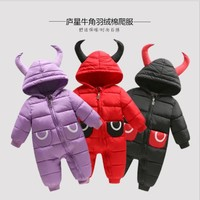 NYSRFZ  Winter children's cotton baby climbing clothes boys and girls children's clothing cotton body conjoined jeans