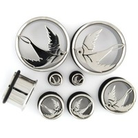 Stainless Steel Single Flared Sparrow Eyelet - SteelNavel.com