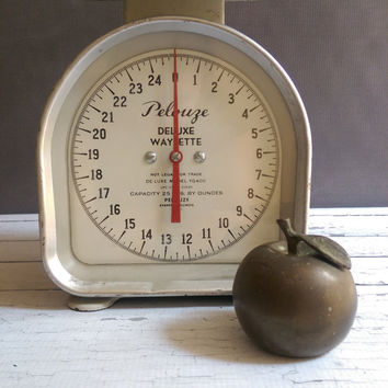 Brass Apple Bell/ Apple Bell/ Vintage Brass Bell/ Gift for teacher/ Brass Apple