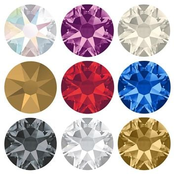 Hot Fix Crystal Rhinestones Glass Hotfix Strass Stone Crystals AB Iron on Clothes
