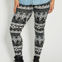 plus size ultra soft legging in ethnic print