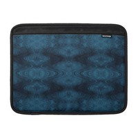Pretty Blue and Black Abstract Sleeve For MacBook Air