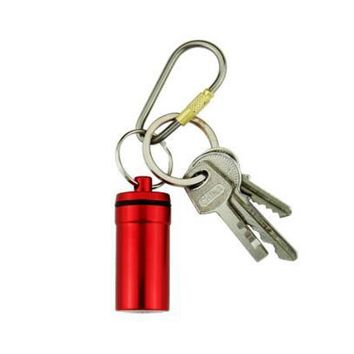 ShineTrip Waterproof Drug Case Container Aluminum Pill Box Holder Keychain Medicine Bottle Outdoor Emergency First Aid EDC