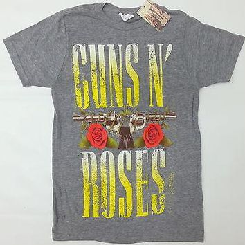 Guns N' Roses ROSES & PISTOLS STACKED-APPETITE FOR DESTRUCTION T-Shirt Authentic